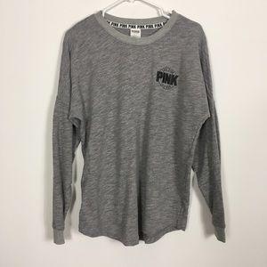 VS Pink Grey Crewneck Sweatshirt